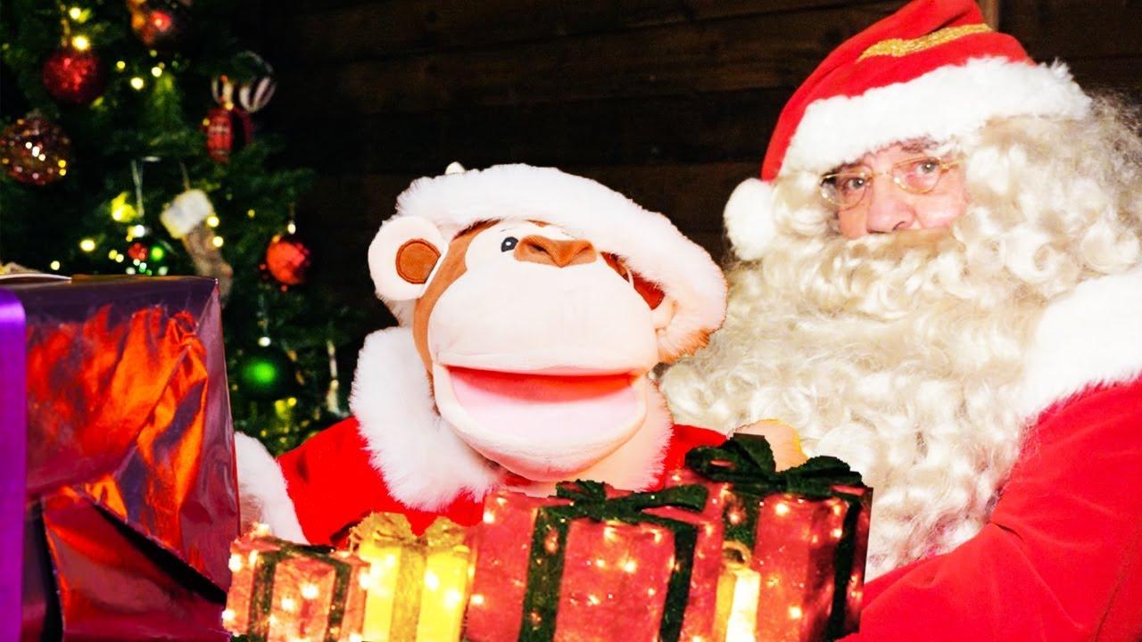 MEETING SANTA CLAUS!   Obo's Christmas Adventure for Ellie Explorer   My Animal Learning Adventure