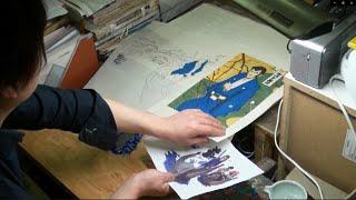 「ルパン三世」浮世絵木版画の制作過程にカメラが密着!