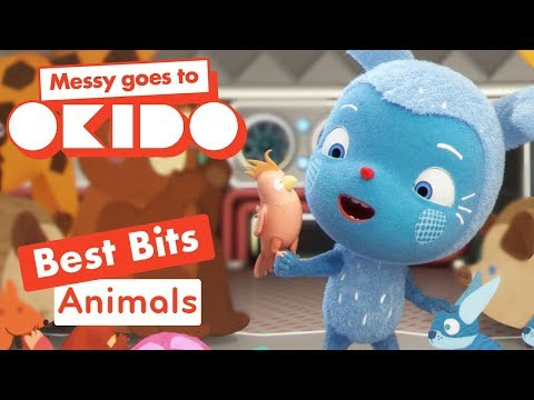 Messy Goes to Okido - Animals Best Bits | Cartoons For Children | Cbeebies