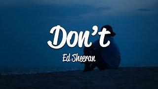 Download Mp3 Ed Sheeran Don t