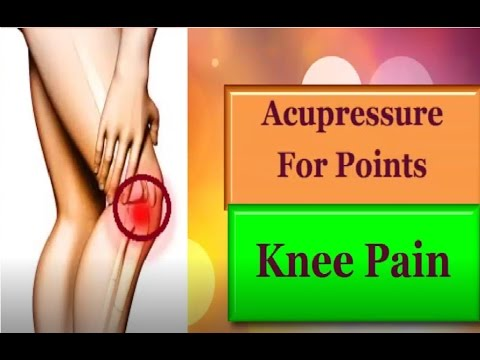 Acupressure points for Knee Pain - YouTube