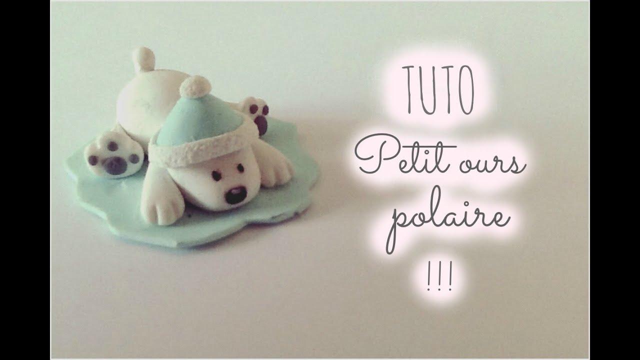 tuto fimo petit ours polaire