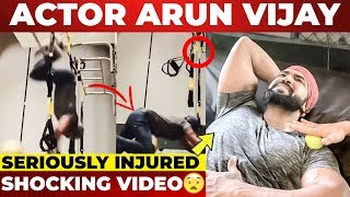 Actor Arun Vijay Falls Down During Workout
