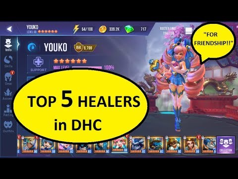 TOP 5 HEALERS IN DUNGEON HUNTER CHAMPIONS DHC