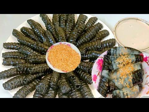 BÁNH CON SÙNG /Cách Làm Bánh Con Sùng Lá Rau Mơ Nước Cốt Dừa Thơm ngon đậm đà Hương vị Miền Tây.