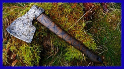 Making a old looking viking style axe with simple tools - metal detector I Wikingeraxt