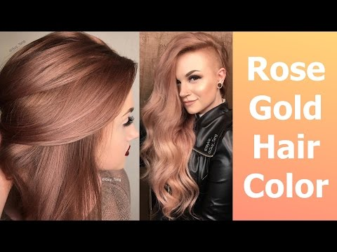 Rose Gold Hair Color - YouTube