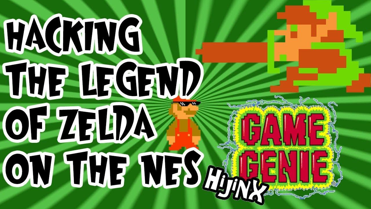 Hacking the <b>Legend</b> of <b>Zelda</b> (NES) - <b>Game Genie</b> Hijinx! (Luigi Clap ...