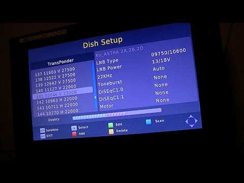 How to tune in Channel 5, Ch 5 +1 , 5 USA & 5* on a Free To Air Satellite Receiver