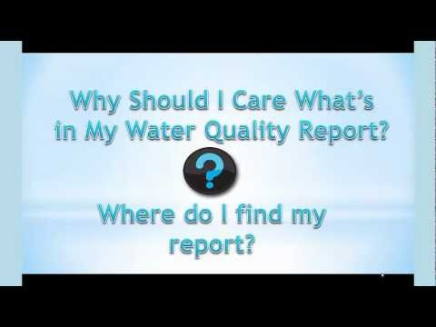 Understanding Your Water Quality Report Part 1