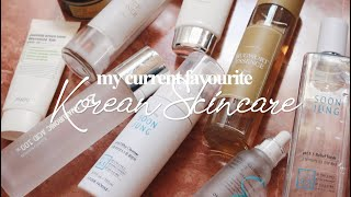 Favourite Korean Skincare Products 2020 (sensitive, dehydrated acne-prone skin) 🇰🇷 | thatxxRin