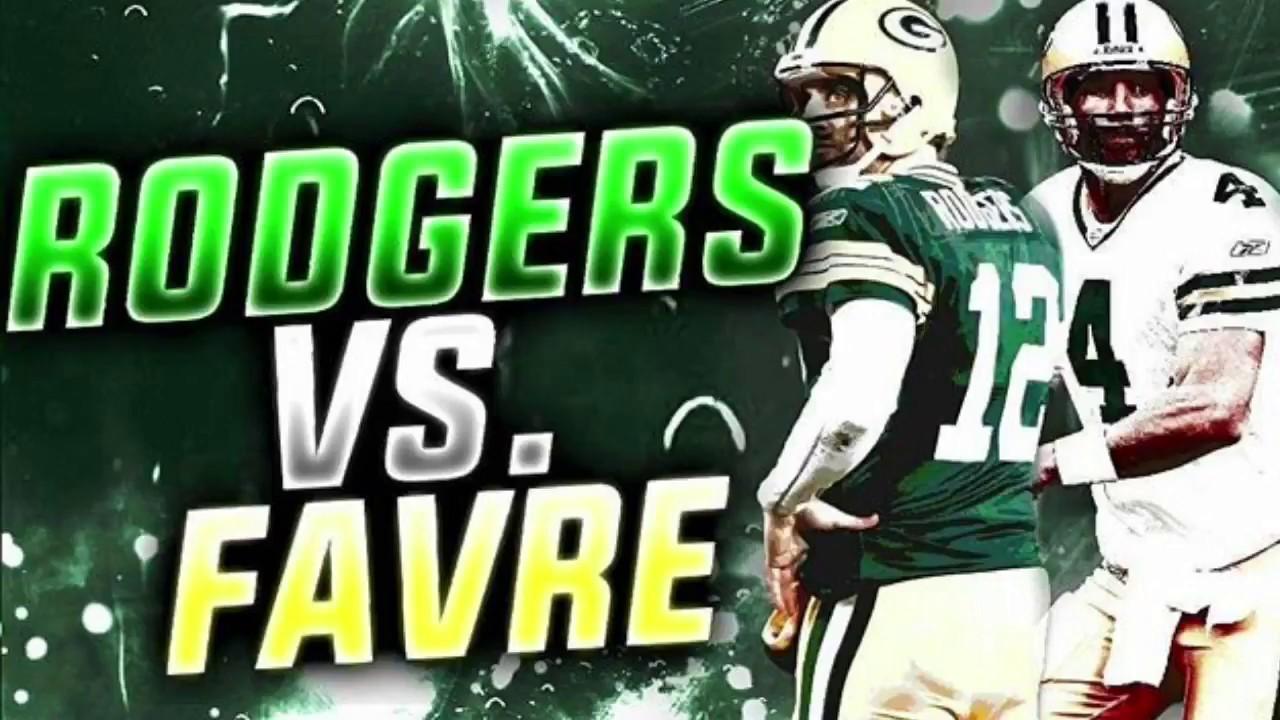 AARON RODGERS VS BRETT FAVRE! Throwback vs Current b93832921
