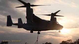 Marine Osprey Training Day and Night
