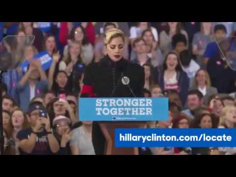 Download Lady Gaga - Hilary Clinton Rally in North Carolina Complet