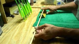 Straightening Wood Arrow Shafts 1