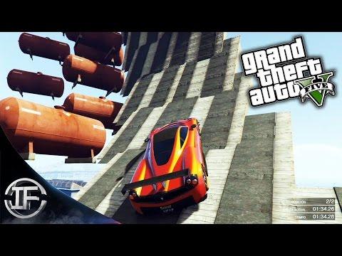 GTA V Online - LA ESPIRAL DE LA MUERTE!! - DRAGON FIRE VS STINGER #10 - Funny Moments GTA 5