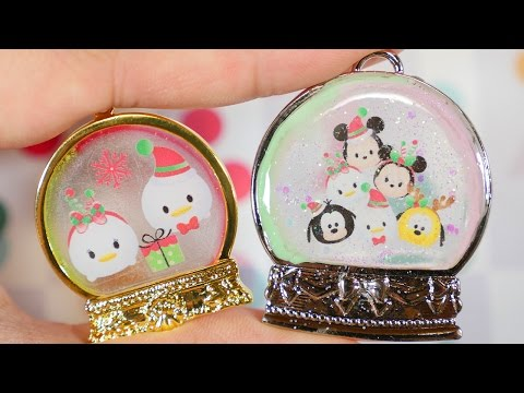 DIY Christmas Tsum Tsum UV Resin Snow Dome Charm Tutorial