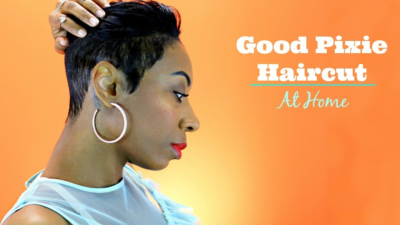 how to trim a pixie cut yourself