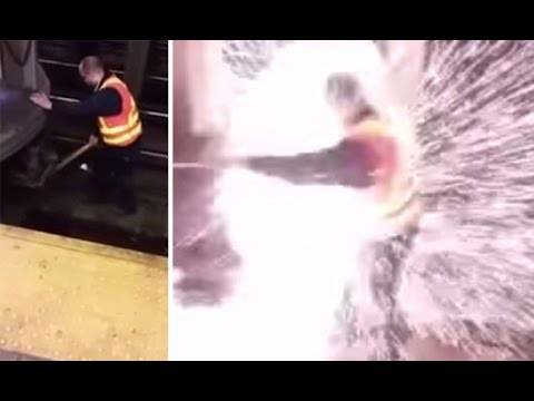 Warning: Subway worker SURVIVES electrocution on the tracks