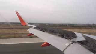 Easyjet plane landing at Palma, Mallorca Airport (PMI)