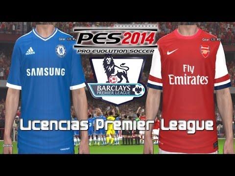 PES 2014 TUTORIAL: Licencias Premier League (Escudos y Camisas)