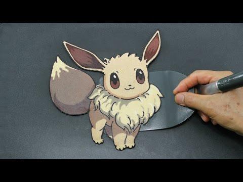 Making Pokemon Eevee Evolution Pancake Challenge ポケモン