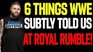 6 Things WWE Subtly Told Us At Royal Rumble 2021 Drew McIntyre Edge Kevin Owens And Roman Reigns