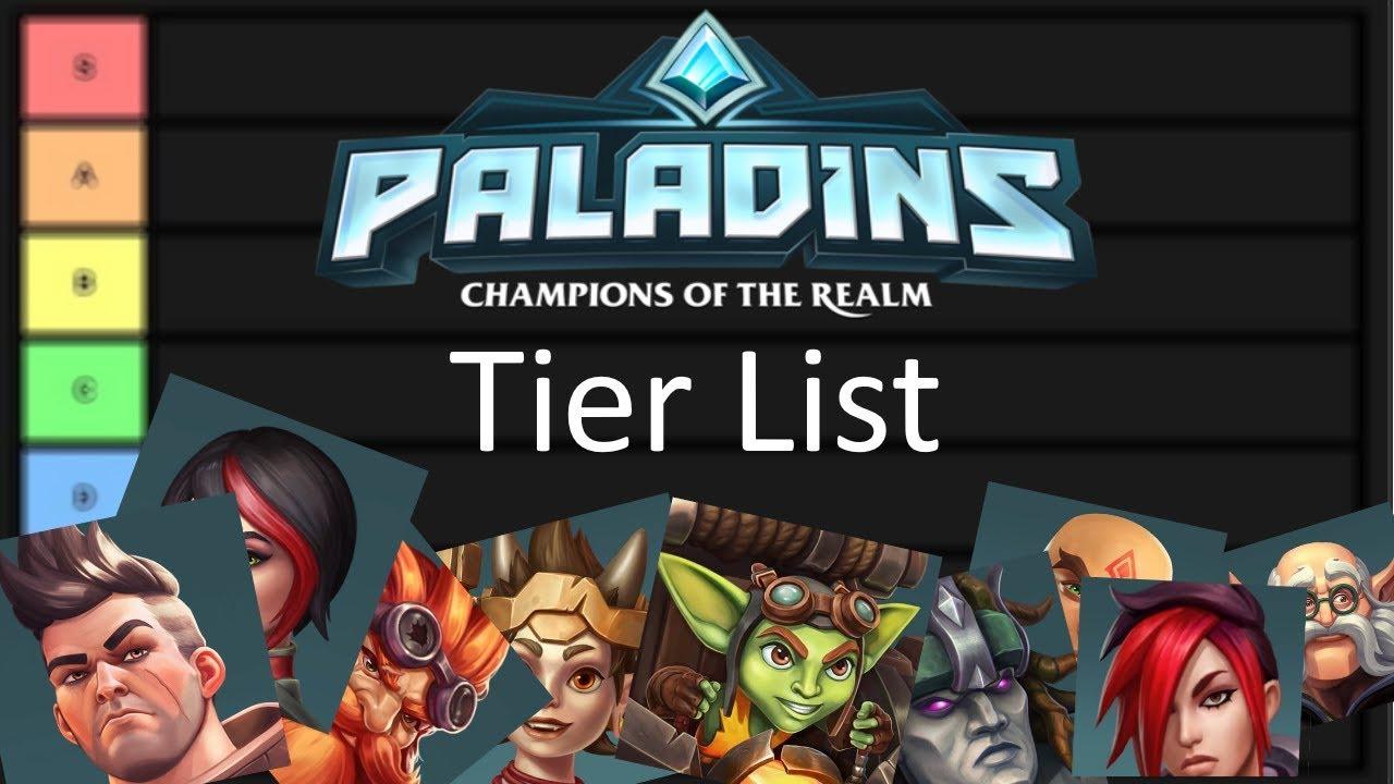 Paladins Best Champions 2020 Paladins Champions Tier List 2019   YouTube