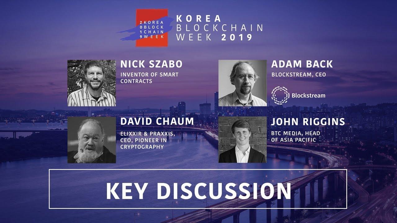Download The Future of Blockchain with Nick Szabo, Adam Back, & David Chaum at Korea Blockchain Week 2019