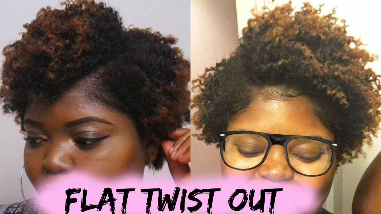 how to: flat twist out on short type 4 natural hair - youtube