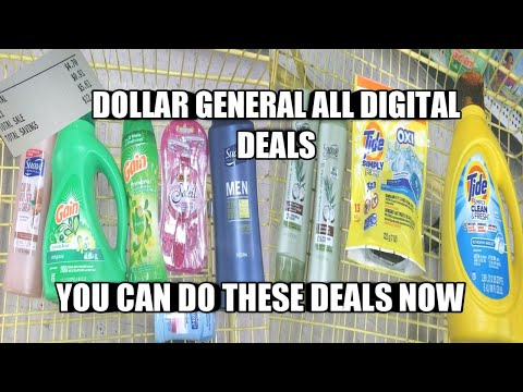 DOLLAR GENERAL ALL DIGITAL DEALS| YOU CAN DO THESE DEALS NOW