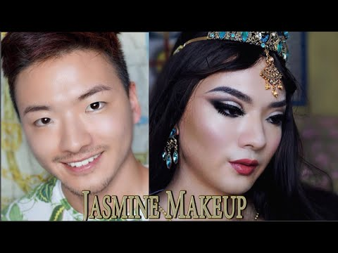 DISNEY ジャスミン メイク Princess Jasmine Makeup Tutorial | Aladdin thumbnail