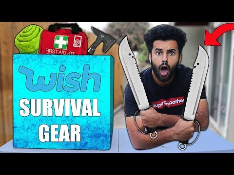 I Bought ALL The WORST and BEST Rated SURVIVAL GEAR On Wish!! *MYSTERY BOX*