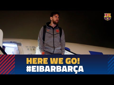 Barça lands in Bilbao ahead of the game against  Eibar