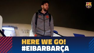 Barça lands in Bilbao ahead of the game against  Eibar