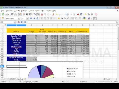Ändern Sie die Druck-Skalierung im Arbeitsblatt (Tabelle) SALES auf ...