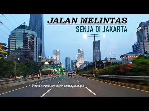 Driving in Jakarta ~ Downtown The Capital City of Indonesia ~ Drive Thru in Jakarta Inner Ring Road