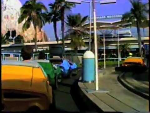 Disneyland-Autopia Cars. 1990. The Whole Ride. With Music.