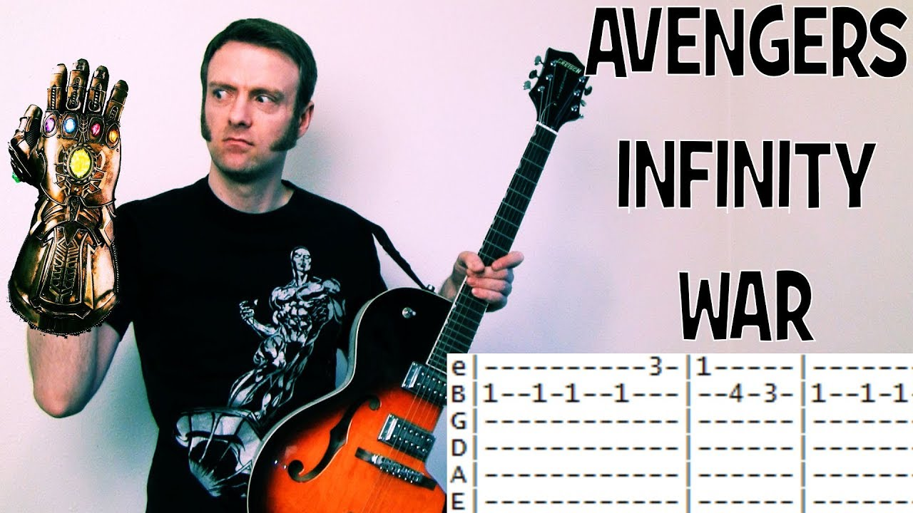 how to play Avengers Infinity War Movie Theme Guitar Chords & Tabs lesson  by Alan Silvestri