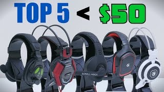 Video Top 5 Gaming Headsets Under $50 download MP3, 3GP, MP4, WEBM, AVI, FLV Mei 2018