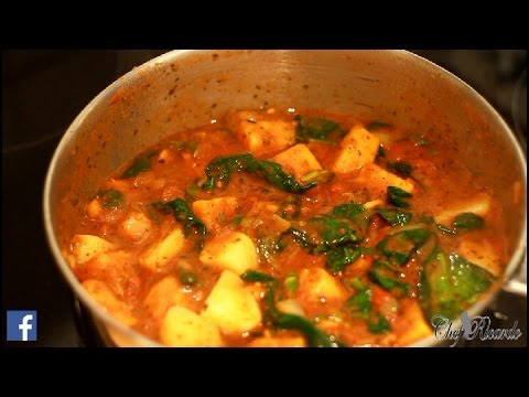 Curry Sweet Potato And Spinach Potato Vegan Recipes | Recipes By Chef Ricardo