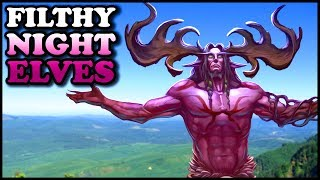 """Grubby vs Spiral   """"Filthy Night Elves""""   Warcraft 3   NE vs ORC   Twisted Meadows"""