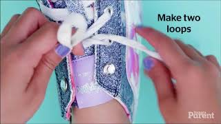 How to teach your kid to tie shoes