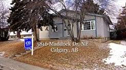 Marlborough Park Home for Sale - 5816 Maddock Dr. N.E. Calgary, AB