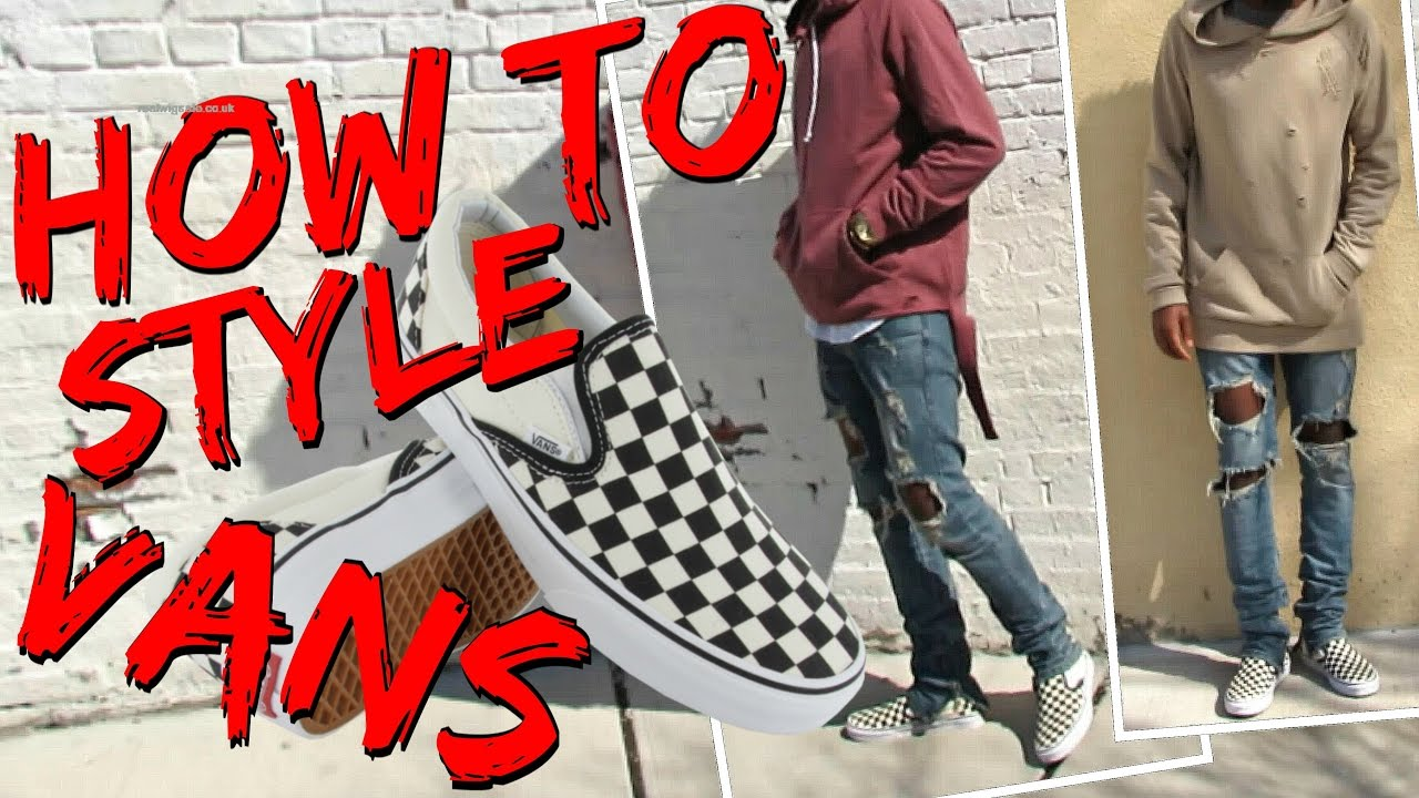 1a7cc403132 How to style Checkerboard Slip-On Vans - YouTube