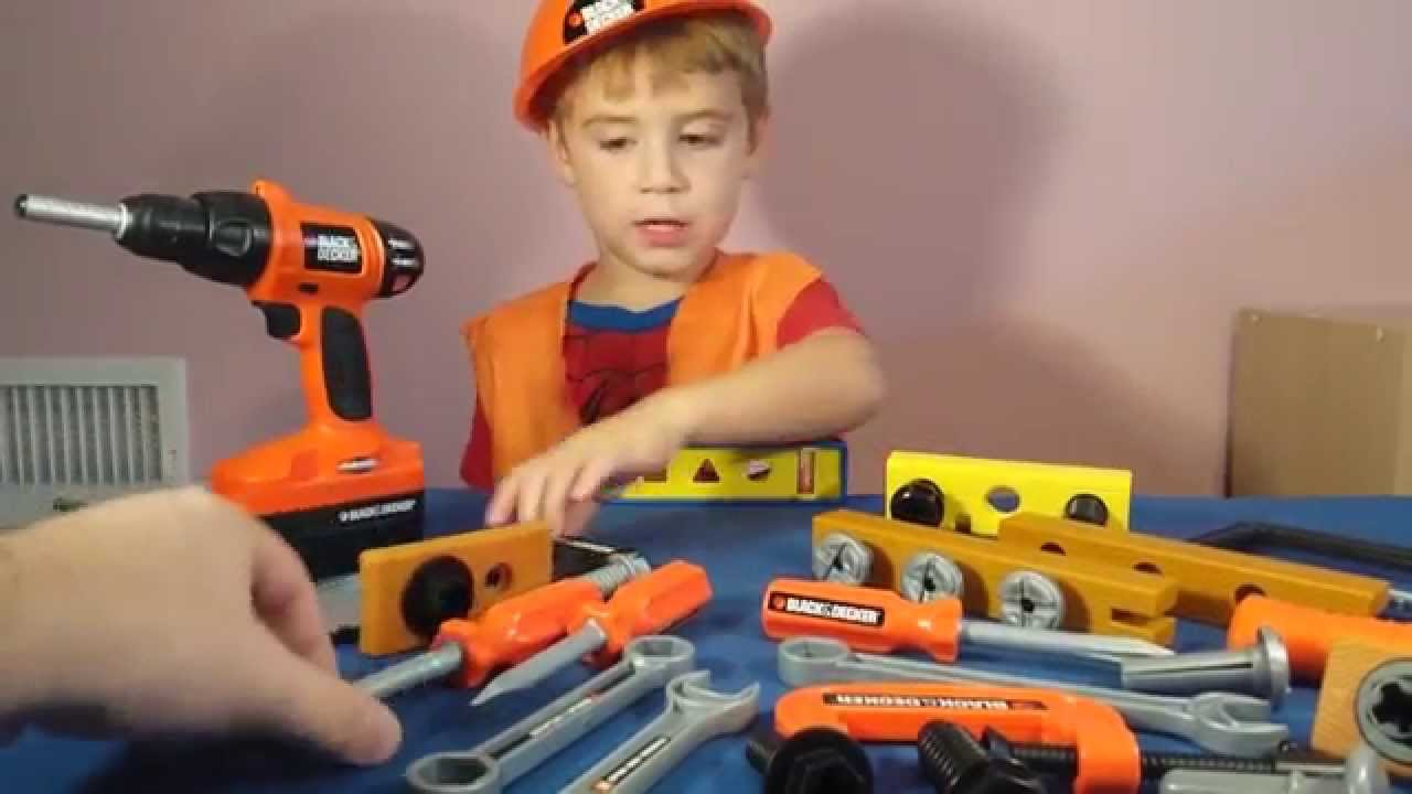 Power Tool Toys Black And Decker Bob The Builder Real Life