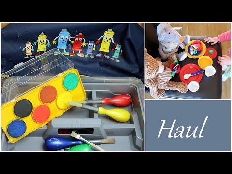 Malerbedarf und Spielzeug