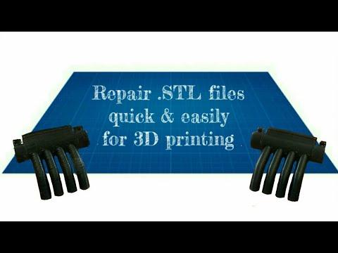 Repair  STL files quick and easily before 3D printing using 3D builder