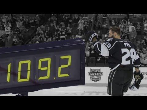 Frk Blasts Record - Breaking 109.2 MPH Shot   Hardest Shot in AHL/NHL History