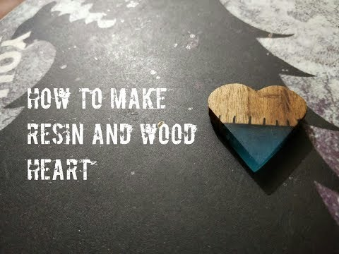 DIY how to make resin and wood heart | resin art